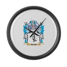 Mudie Coat of Arms - Family Crest Large Wall Clock