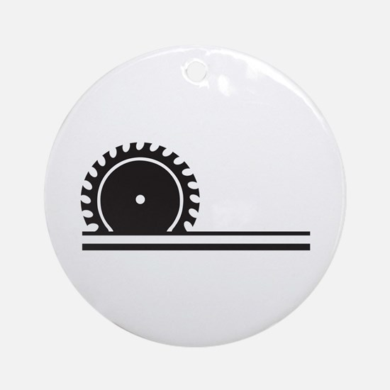 SAW BLADE Ornament (Round)