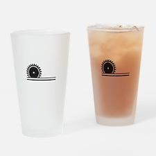 SAW BLADE Drinking Glass
