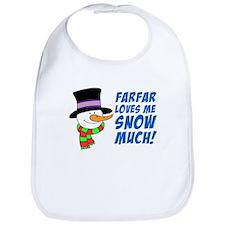 Farfar Loves Me Snow Much Bib