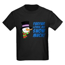 Farfar Loves Me Snow Much T-Shirt