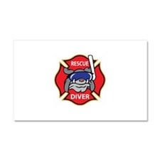RESCUE DIVER Car Magnet 20 x 12
