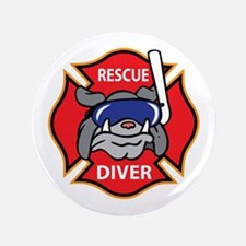 "RESCUE DIVER 3.5"" Button"