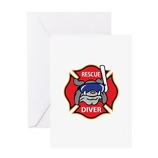 RESCUE DIVER Greeting Cards