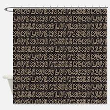 Love Hugs and Kisses XOXO Shower Curtain