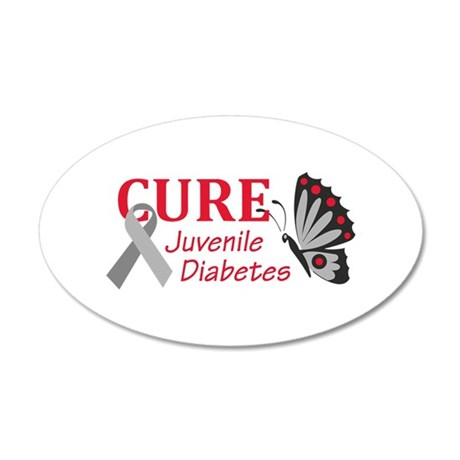 Cure juvenile diabetes wall decal by greatnotions11 for Stickers juveniles