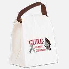 CURE JUVENILE DIABETES Canvas Lunch Bag