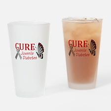 CURE JUVENILE DIABETES Drinking Glass
