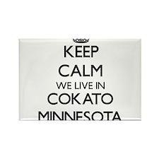 Keep calm we live in Cokato Minnesota Magnets
