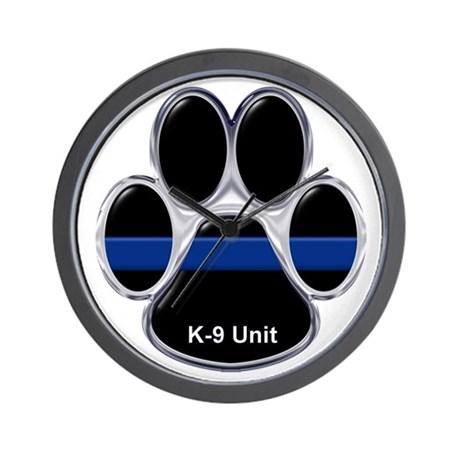 K-9 Unit Thin Blue Line Wall Clock