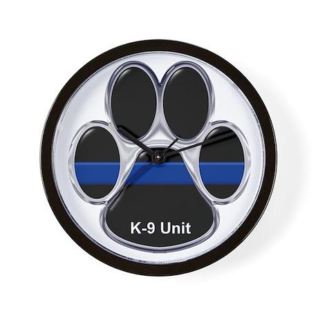 K-9 Unit Thin Blue Line Wall Clock