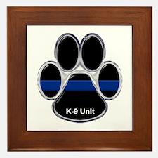 K-9 Unit Thin Blue Line Framed Tile