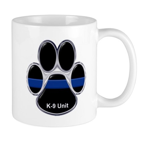 K-9 Unit Thin Blue Line Mugs