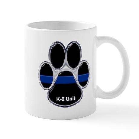 K-9 Unit Thin Blue Line Mugs