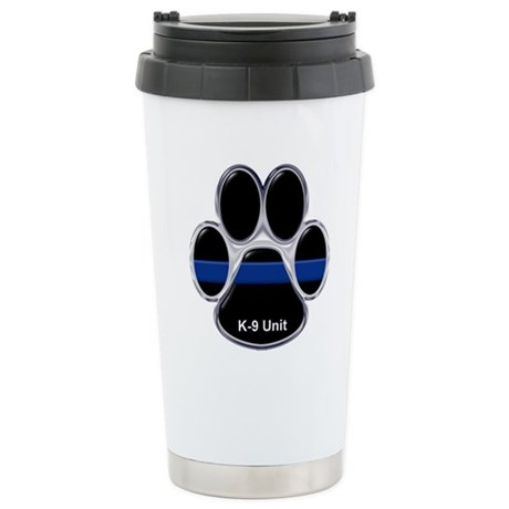 K-9 Unit Thin Blue Line Stainless Steel Travel Mug