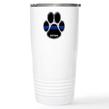 K-9 Unit Thin Blue Line Stainless Steel Travel Mug