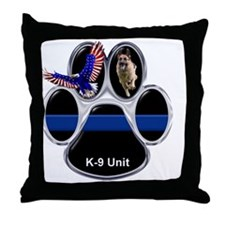 Cute The thin blue line Throw Pillow