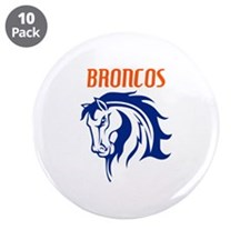 """BRONCOS MASCOT 3.5"""" Button (10 pack)"""