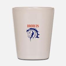 BRONCOS MASCOT Shot Glass