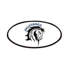 MUSTANGS MASCOT Patches