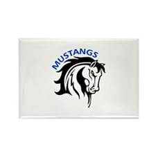 MUSTANGS MASCOT Magnets