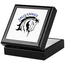 MUSTANGS MASCOT Keepsake Box