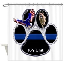 Cute Police k9 Shower Curtain