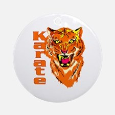 Karate with Tiger Ornament (Round)