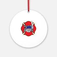 RESCUE DIVER Ornament (Round)