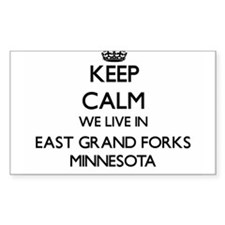 Keep calm we live in East Grand Forks Minn Decal