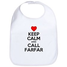 Keep Calm Call Farfar Bib