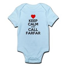 Keep Calm Call Farfar Body Suit
