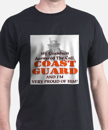 My Coast Guard Grandson Answered Ash Grey T-Shirt
