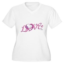 Snoopy Love Plus Size T-Shirt