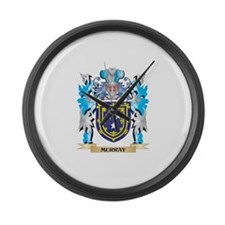 Murray Coat of Arms - Family Cres Large Wall Clock