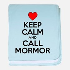 Keep Calm Call Mormor baby blanket