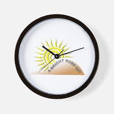 Bright Hump Day Wall Clock