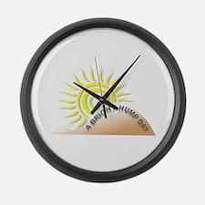 Bright Hump Day Large Wall Clock