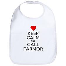 Keep Calm Call Farmor Bib