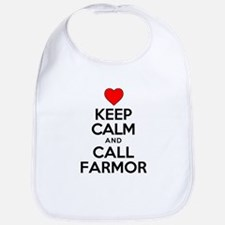 Keep Calm Call Farmor Bib
