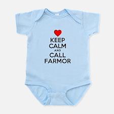 Keep Calm Call Farmor Body Suit