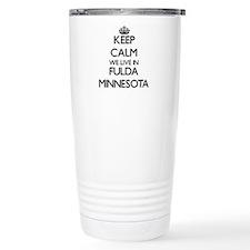 Keep calm we live in Fu Travel Mug