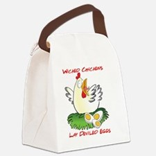 Wicked Chickens lay Deviled Eggs Canvas Lunch Bag