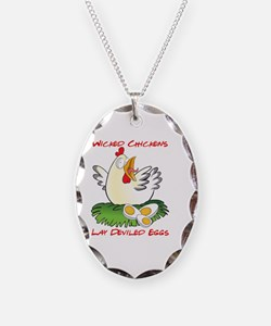 Wicked Chickens lay Deviled Eg Necklace
