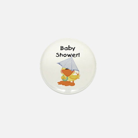 Boy Duck Baby Shower Mini Button