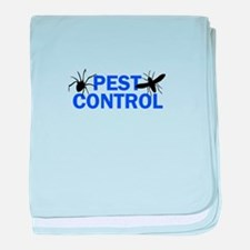 Pest Control baby blanket