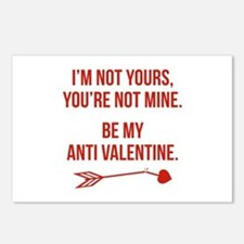 Be My Anti Valentine Postcards (Package of 8)