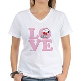 Snoopy Womens V-Neck T-shirts