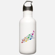 Rainbow Music Notes Sports Water Bottle