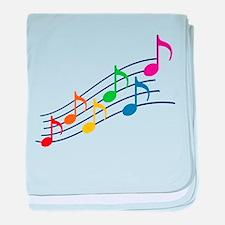 Rainbow Music Notes baby blanket